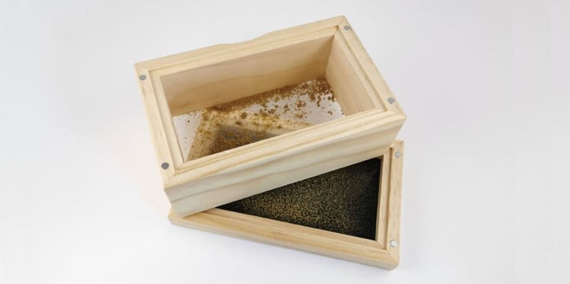 Sifter boxes are used to separate kief from the rest of the cannabis plant matter